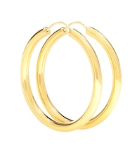 Gypsy Large gold-plated hoop earrings