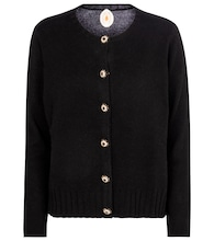 Embellished wool and cashmere cardigan