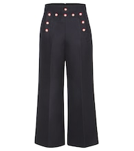 Embellished wool trousers