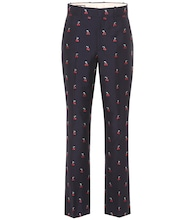 Fil coupé cotton and wool pants