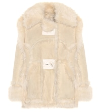 Oversized shearling jacket