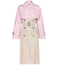 Silk-faille trench coat