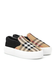 Vintage Check slip-on sneakers