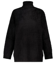 FF stretch-velvet turtleneck sweater