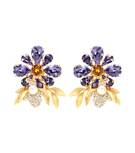 Crystal embellished clip-on earrings