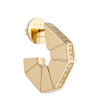 Carey 18kt gold single earring with diamonds