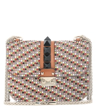 Valentino Garavani Lock small embellished leather shoulder bag