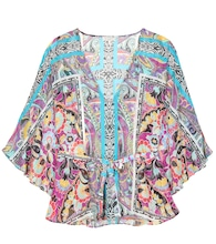 Printed silk cover-up