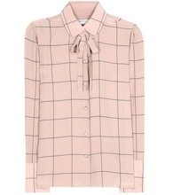 Checked silk blouse