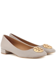 Chelsea Heeled leather ballet flats
