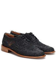 Japaille raffia derby shoes