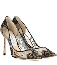 Romy 100 lace pumps