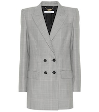 Plaid wool and mohair blazer