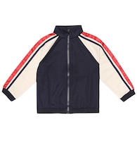 Technical-jersey track jacket