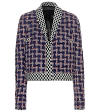 Multicoloured check bouclé jacket