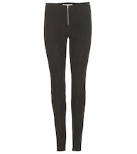Veloursleder-Leggings