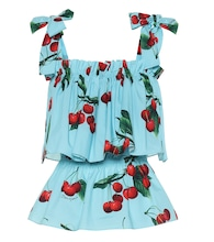 Exclusive to Mytheresa – Cherry printed cotton top