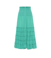 Foe paneled maxi skirt