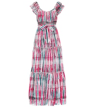 Lexie tie-dye cotton-blend maxi dress