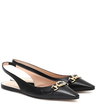 Gucci Zumi leather ballet flats