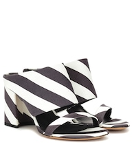 Striped sandals
