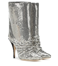 Ankle Boots aus Glitter