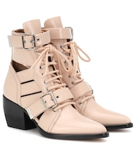 Rylee patent leather ankle boots