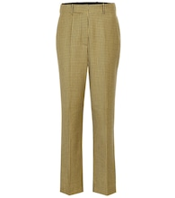 Michael checked wool wide-leg pants