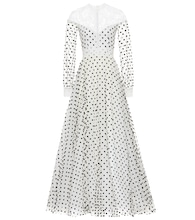 Dotted tulle gown