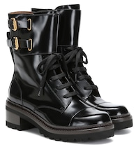Mallory leather ankle boots