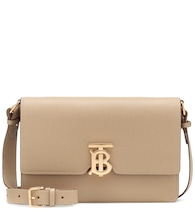 TB leather shoulder bag