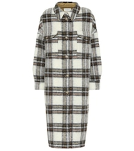 Gabrion checked wool coat