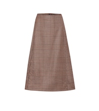Enya checked stretch-wool midi skirt