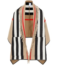 Icon Stripe wool and cashmere cape