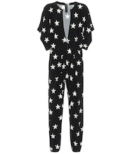 Star-print stretch-jersey jumpsuit