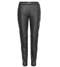 Janet fringe-embellished leather trousers