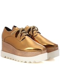 Britt metallic platform derby shoes