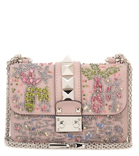 Valentino Garavani Lock Mini crystal-embellished shoulder bag