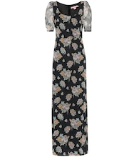 Quanica floral cotton maxi dress