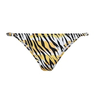 Scrunchie printed bikini bottoms