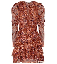 Cecily floral silk-blend minidress