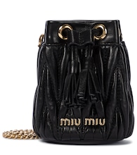 Mini matelassé leather bucket bag