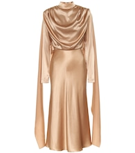 Silk-satin midi dress