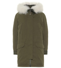 Army shearling-trimmed cotton-blend down parka