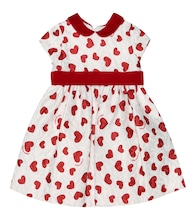 Baby heart brocade dress
