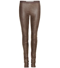 New Simple leather leggings