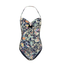 Printed cut-out swimsuit