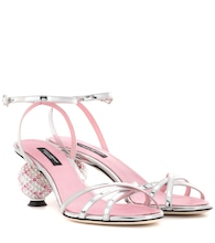 Crystal-embellished sandals