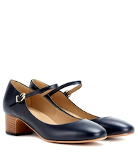 Victoria leather Mary Jane pumps
