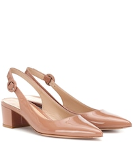 Amee patent leather slingback pumps